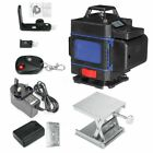 Remote16 Line 4D 360° Rotary Green Laser Level Self Leveling Cross Measure Tool