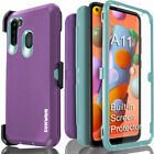 Samsung Galaxy A11 Case COVRWAE 3 layer Armor Screen Protector Holster Belt Clip
