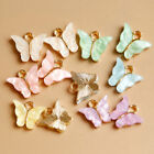 10pcs Butterfly Pendant Necklace Earring Crafting Jewellery Making Accessory _