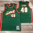 Sonics Shawn Kemp Green Jersey S-XL Seattle Super Sonics on eBay
