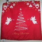 Merry Christmas Decoration Red Pillow Soft Cover Xmas  18X18