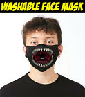 Shark Mouth Face Mask, Funny Fish Scary Protection Reusable Washable Cover Mask