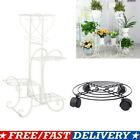 Indoor Outdoor Plant Stand 1/4 Tier Metal Flower Pots Holder Rack Display Shelf