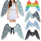 Carnival Party Cosplay Black Costume Props Mardi Gras Adult Unisex Angel Wing