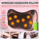 Cordless Electric Massage Pillow Lumbar Body Neck Back Shiatsu Kneading U G