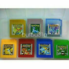 Pokemon Game Cards Yellow Blue Version GBA GBM GBC Gameboy Color Cartridge USA