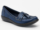 Clarks Collection Slip On Loafers Ashland Bubble Navy Snake - NEW