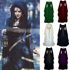 Womens Renaissance Medieval Gothic Long Dress Witch Halloween Cosplay Costume US