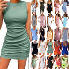 Womens Sexy Stretchy Bodycon Cocktail Mini Dress Clubwear Party Short Sundress