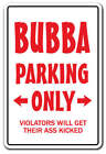 BUBBA PARKING Decal redneck hillbilly hick country music nascar