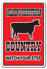 MILKING SHORTHORN COUNTRY Decal farm animals watch your step redneck