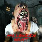 Halloween Scary Clown Bloody Zombie Mask Melting Face Latex Cosplay