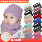 Newborn Infant Baby Scarf For Boys Girls Cotton Solid Knitted Winter Warm Scarf