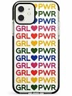 GRL PWR - Mixed Colours (Large) Black Impact Case for iPhone Girl Women Power