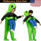 Adult Kids Inflatable Monster- Costume Green Alien Carrying Me Cosplay Halloween