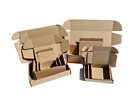 Brown Royal Mail Small Parcel Cardboard Postal Boxes Gift Mailing Packet Fold Up