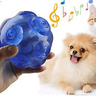 Squeak Chew Toy Ball, Durable Rubber Interactive Training Playing Pet Toy Balls