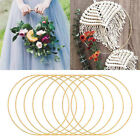 1PC Portable Iron Gold Color Ring Hoop Christmas Garland Hanging Wedding Decor