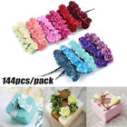 144pcs Mini Paper Rose Bouquet Artificial Flowers For Wedding Home Decorations