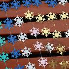 4M Snowflake Flag String Winter Christmas Party Home Decoration Optional Color