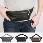 Men Vintage Pu Leather Outdoor Travel Fanny Pack Waist Chest Shoulder Pouch Bag