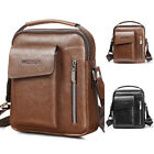 Vintage Men's Leather Messenger Bag Cross-body Tote Handbag Shoulder Brifecase