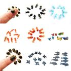 Set 10 Clay Animals Fishs Birds Dollhouse Miniature Model S Accessories DIY Toy