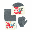 New Textiel Trade Toddler Mickey Mouse Hat Scarf and Mitten 3-Piece Set