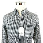 Ben Sherman Black White Check Long Sleeve Button Down Shirt Men S/M/L/XL/XXL NWT
