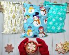 New 10x13 Fall, Christmas, Snowmen, Teal Snowflakes, Trees Poly Shipping Mailers