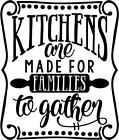 Kitchen Made For Gather Wall Art Sticker, Home Decor, Quality Diy Decal Quotes