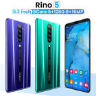 Mobile Phone Rino5 Smart Phone 6.3 inch 6G 128GB Android dual SIM Cellphone