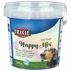 Trixie Soft Snack Happy Mix Dog/Puppy Training Treats 500g - Chicken Lamb Salmon