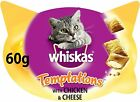 Whiskas Temptations - Tasty,  Crunchy Cat Treats, Small Bite Size Snacks with a