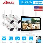 ANRAN 1080P Home Security Camera System Wireless WIFI 8CH 12inch NVR 1/2TB HDD
