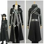 Sword Art Online SAO Kirito Kirigaya Kazuto Cosplay Costume Uniform