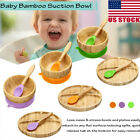 Avanchy Organic Bamboo Baby Bowl or Plate with Suction + Spoon ~ Utensil Set #