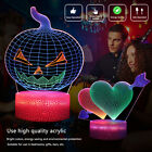 Funny 3D Night Light 3 Gradient Color Dynamic Touch Table Lamp Kids Xmas Gift