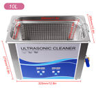 Stainless Steel Ultrasonic Cleaner Liter Heated Heater w/Timer Machine 2L-30L US