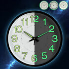 Modern Wall Clock Silent Non-ticking Battery Operated 12 Round Clock Home Decor