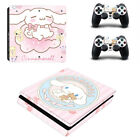 PS4 Slim Console Controllers Skin Decal Sticker Cinnamoroll Cute Puppy Dog Vinyl