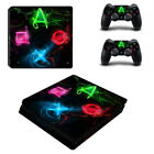 PS4 Slim Console Controllers Skin Decals Stickers Cover Vinyl Playstation 4 Logo