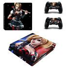 PS4 Slim Console Controllers Skin Decals Stickers Harley Quinn DC Comic Suicide