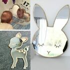 Mirror Sticker Home Decoration For Home Nordic Wood Acrylic Mirror Cartoon Wall