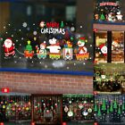 Christmas Wall Stickers Adhesive Window Decals Santa Xmas Festival Home Decor Sp