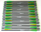 """20"""" Carbon Crossbow Bolts Green/Yellow Parabolic Arrows 6,9,12, 24 Weight Sorted"""