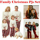 Kids Adults Sleepwear Family Matching Christmas Pajamas Pjs Set Xmas Pajamas Set