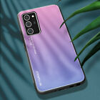 For Samsung Galaxy Note 20 Ultra Gradient Tempered Glass Case Hybrid Back Cover