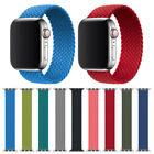 Fabric Nylon Braided Solo Loop Band for Apple Watch Series 6 5...