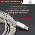 Earphone Light ning silver plated upgrade cable 2PIN0.75/MMCX connector For V90